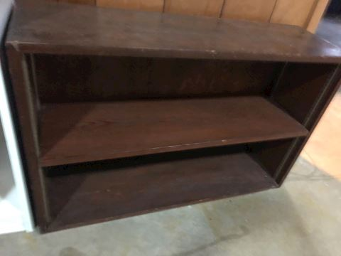 Small vintage wood bookcase
