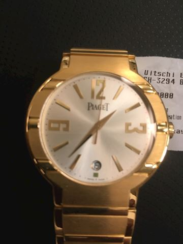 Piaget 18K  Goldmen's wrist watch