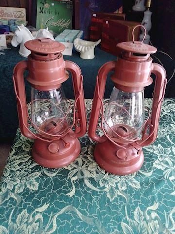 Pair of oil lanterns