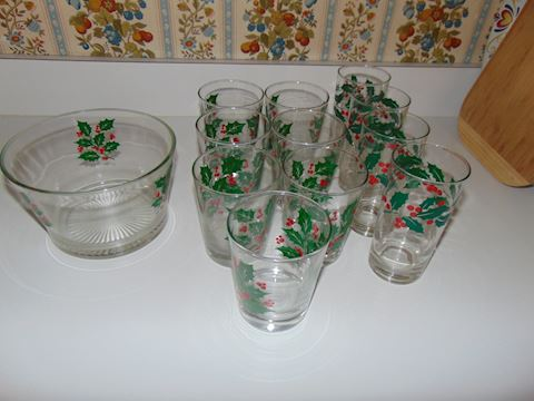 Indiana Glass Christmas Glasses