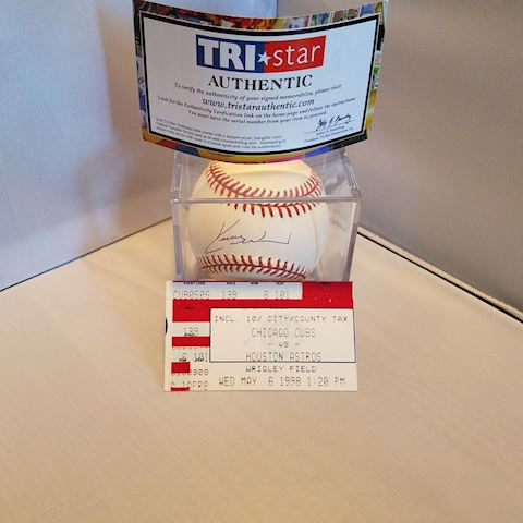 Chicago Cubs Kerry Wood 20  Strikeout Ticket/Ball