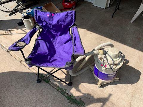 Travel Chair & Shop Vac Lot # 188