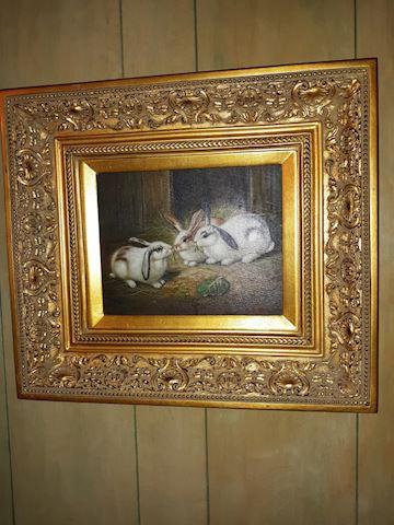 """BD1  107  """"Rabbits"""" Painting"""