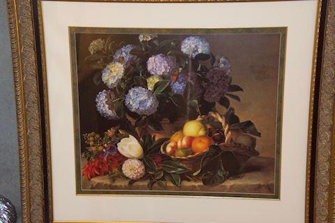 Botanical Print in Heavy Gold Frame