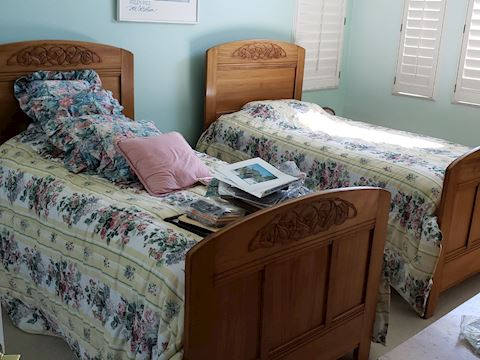 Antique Swiss Twin Bed