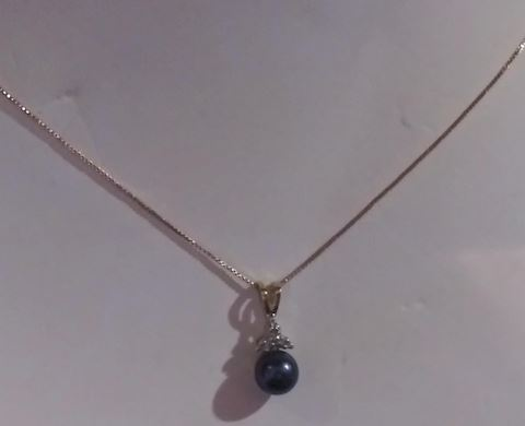 14k Gold With Black T. Pearl