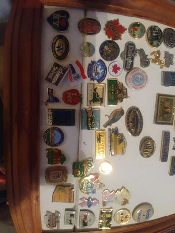 LARGE Collection of pin back buttons