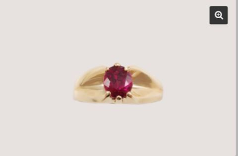 14K GOLD VINTAGE Royal Rubelite Estate Ring