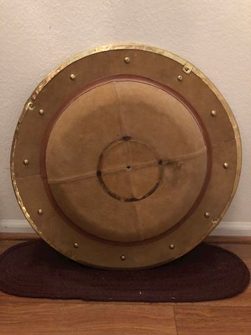 Leather Covered Buckler Shield