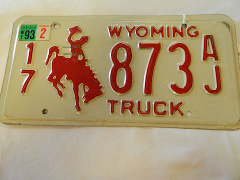 1993 WY Truck License Plate