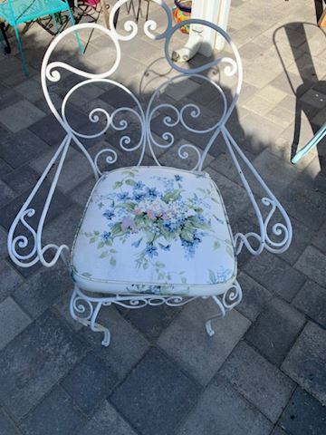White Rot Iron Chair