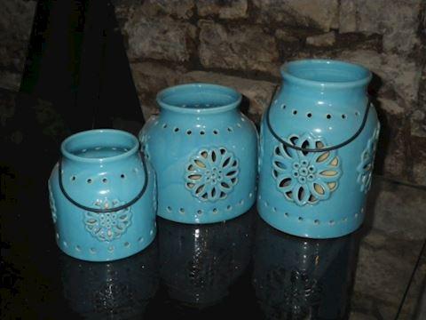 Set of Three Outdoor Luminaries