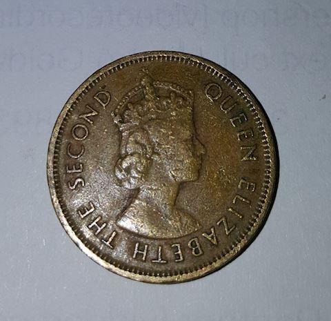 Old 1963 Hong Kong 10 Cent Coin