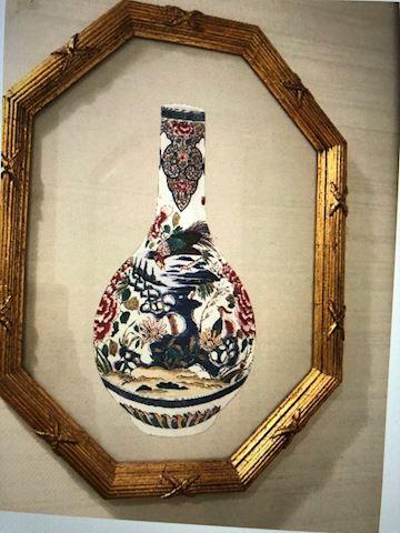 Framed  vases