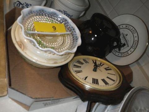 Lot #9 - Fenton Silver Crest, Bean Pot and More