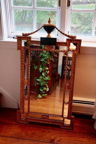 Antiqued Urn Top Mirror