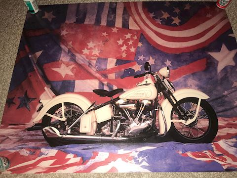 Sturgis 50th Harley Davidson Poster 20 X 16