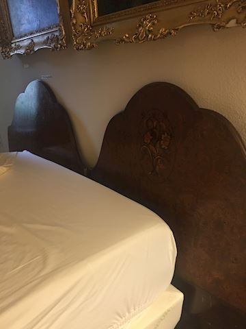 Wood burled headboards