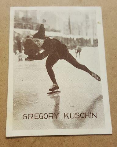 1930's German Ice Skating Real Photo Tobacco Card