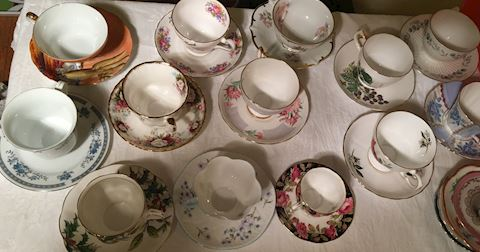 Collection of Fine China Teacups and Saucers