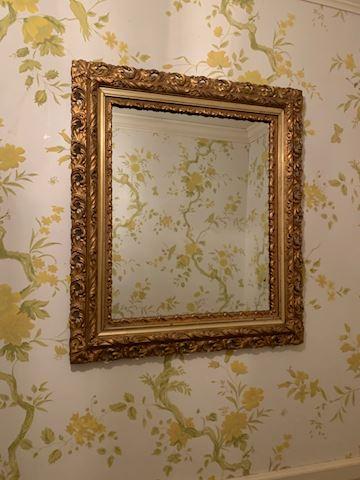 ENT. 100.   Gold framed Mirror