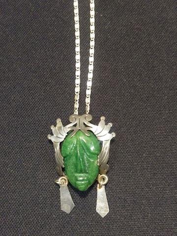 Jade Sterling Necklace