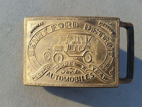 Henry Ford Detroit Automobile belt buckle