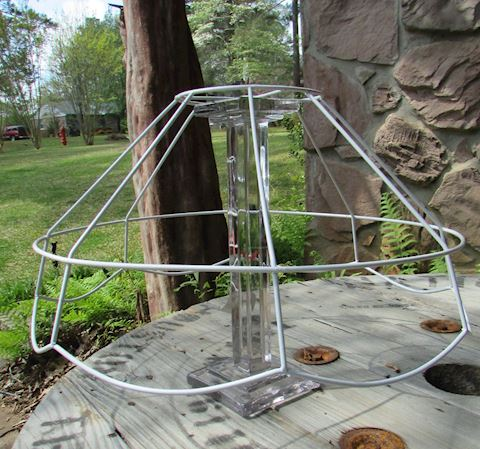 Pair of Wire Tiffany Style Lamp Shades
