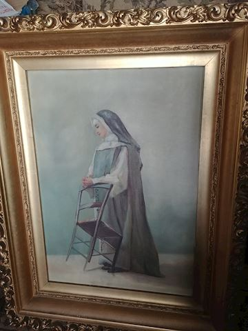 ANTIQUE OIL ON CANVAS , PAINTING