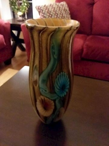 Beautiful Colorful Painted Glass Vase
