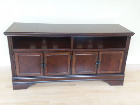 Wood TV Stand Credenza with Storage