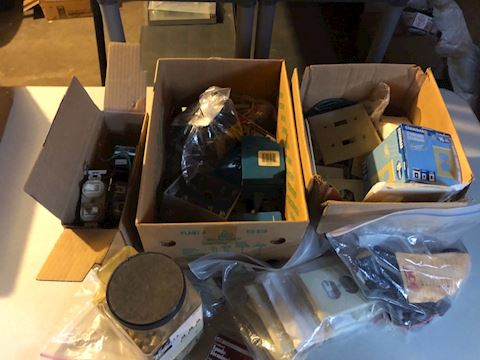 Huge lot of electrical supplies