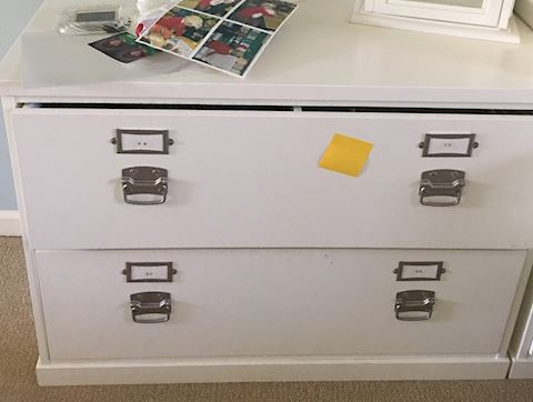 Pottery Barn 2 Drawer Lateral File Cabinet