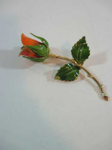 "3"" Giovanni Enamel Rose Brooche Pin"