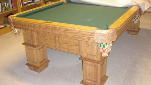 Pool Table With Cover And Accessori.