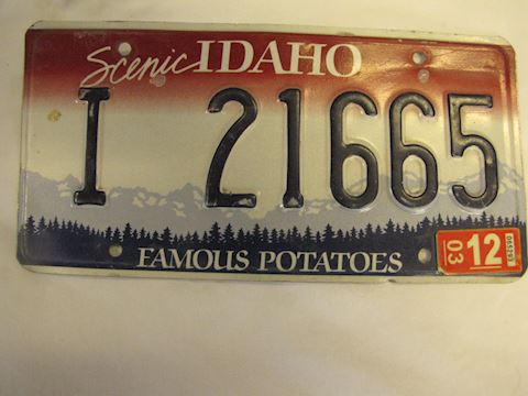 2003 Idaho License Plate