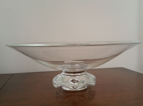 "Rare Vintage  Footed Steuben Bowl 12-1/2"" D"