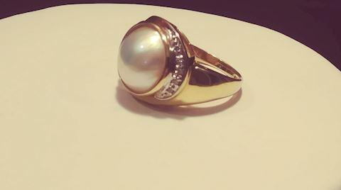 Pearl in 14K Gold Ring