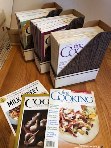 Large lot of cooking magazines