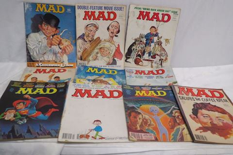 Mad Magazines Lot Of 10 From 73-81