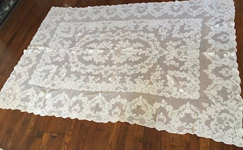 Antique Hand Made Tablecloth or Coverlette