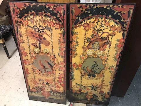 2 Wooden Art Panels