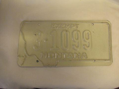Montana Error License Plate
