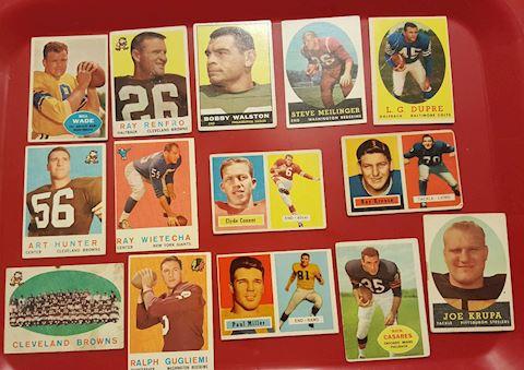 14 Vintage Football Cards