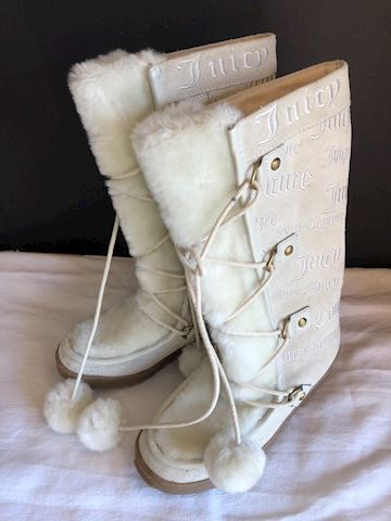 New Juicy Couture Suede Lace up Winter boots sz 7