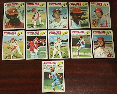 11 Old Philadelphia Phillies 1977 Baseball Cards