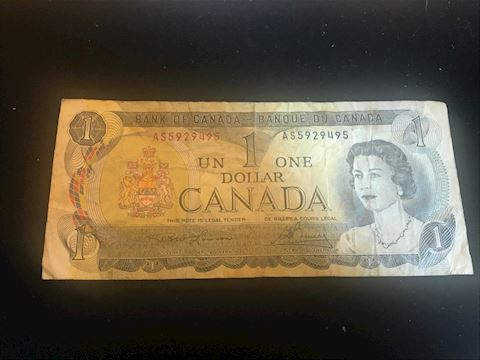 Canada 1 Dollar note from 1973