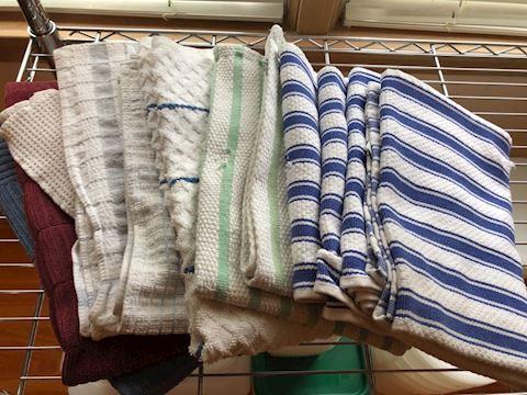 Lot of 10 plus dish towels