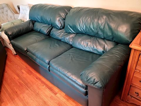 Leather Couch Love Seat