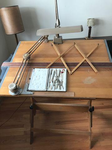 Vintage architects desk